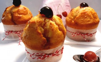 Muffins con amarene fatte in casa