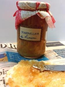 Barattolo di marmellata di limone confezione regalo per Natale