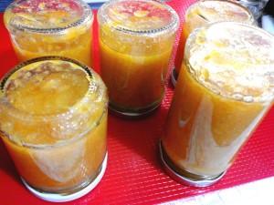 Marmellata di clementine e cannella nei vasetti - sottovuoto