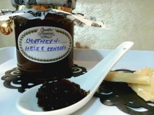 Chutney di mele e zenzero speziato con cannella -noce moscata-uvetta