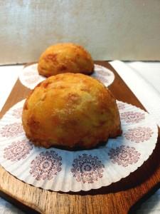 Gâteau, gatò o gattò di patate monoporzione forma sferica