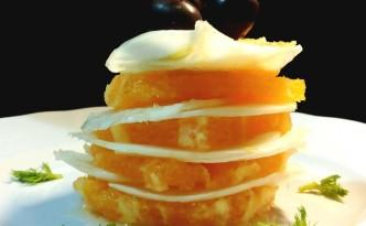 Insalata di arance e sfoglie di finocchi in torretta
