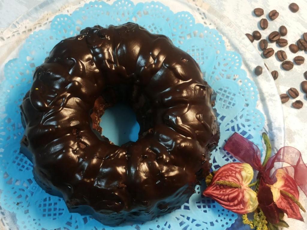 Bundt cake cioccolato e caffè espresso