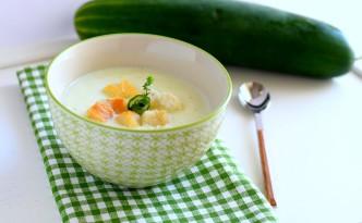 crema di cetriolo con yogurt e menta