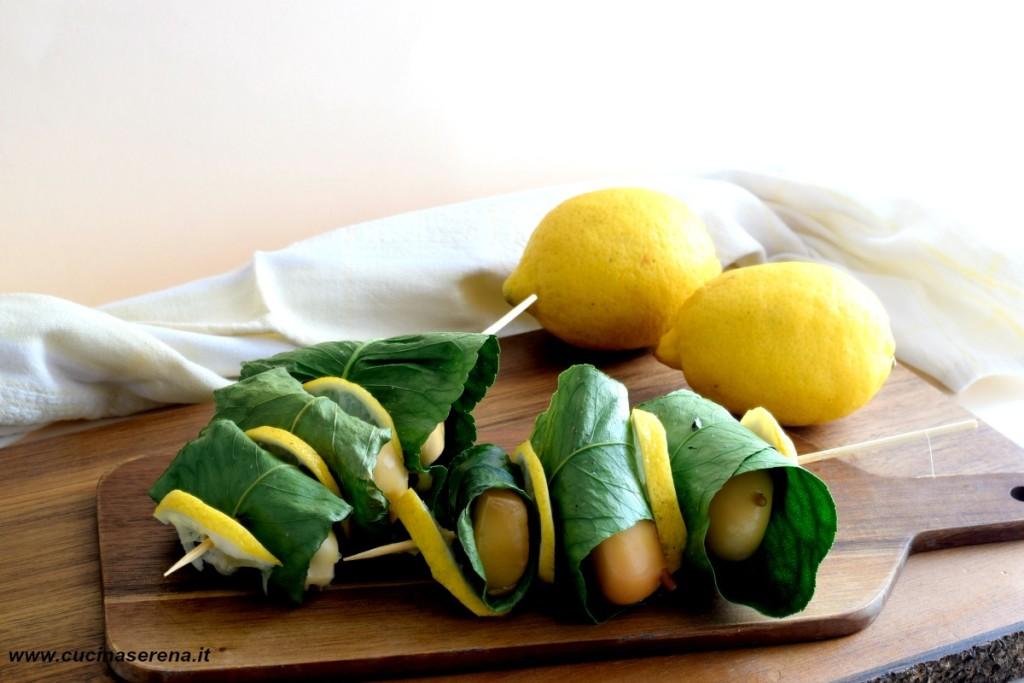 Scamrza affumicata in foglie di limone