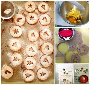 linzer-cookies-collage