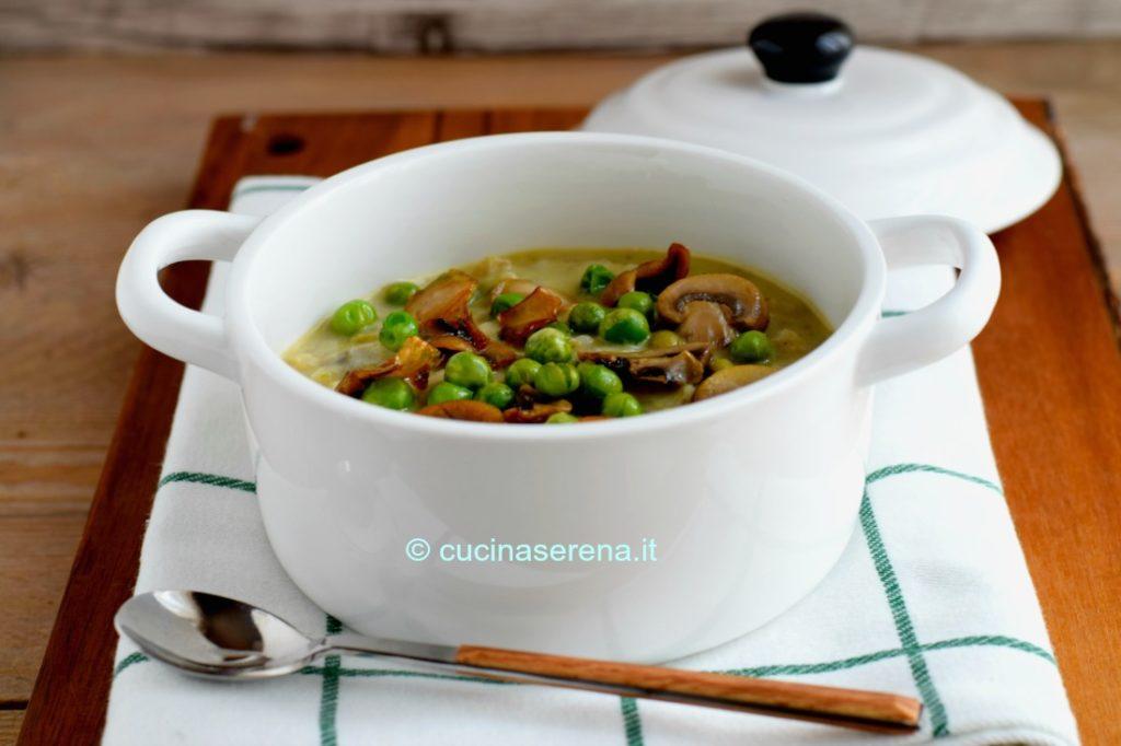 Zuppa di orzo funghi e piselli bimby