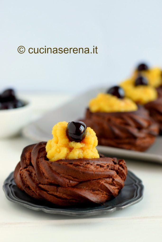 Zeppole di S. Giuseppe al cioccolato