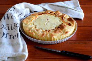Torta salata ricotta e prosciutto cotto