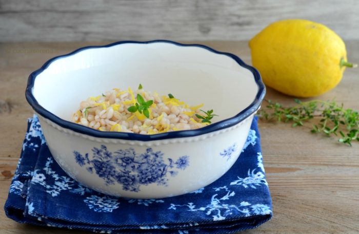 orzotto al limone ricetta light e vegan