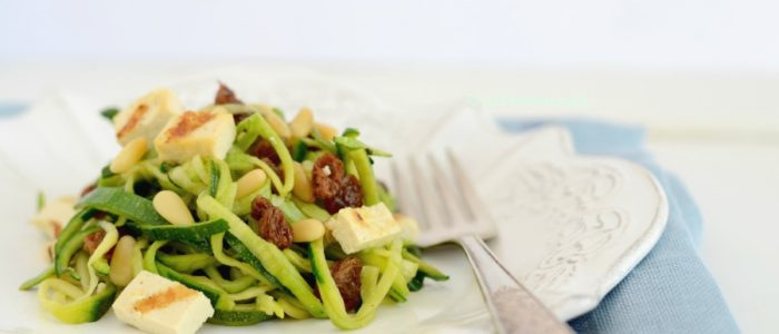 Spaghetti di zucchine piatto vegan