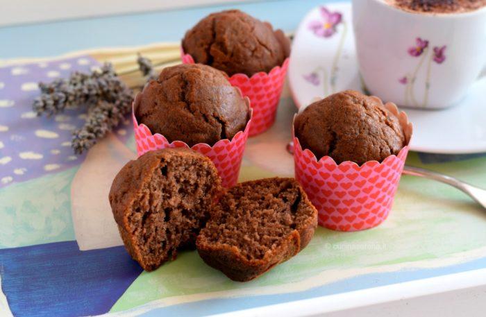 muffin con banane e cacao