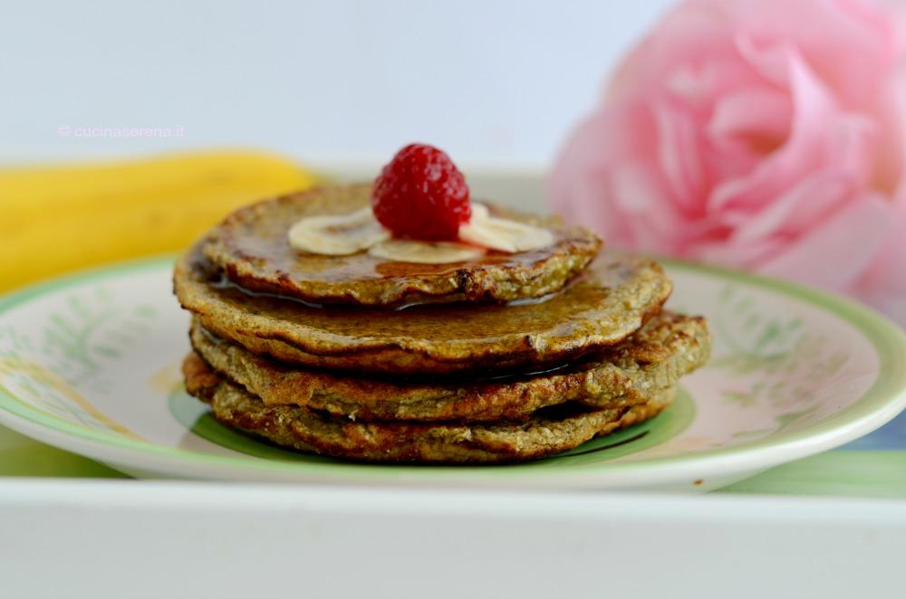 pancake con banana e cocco light