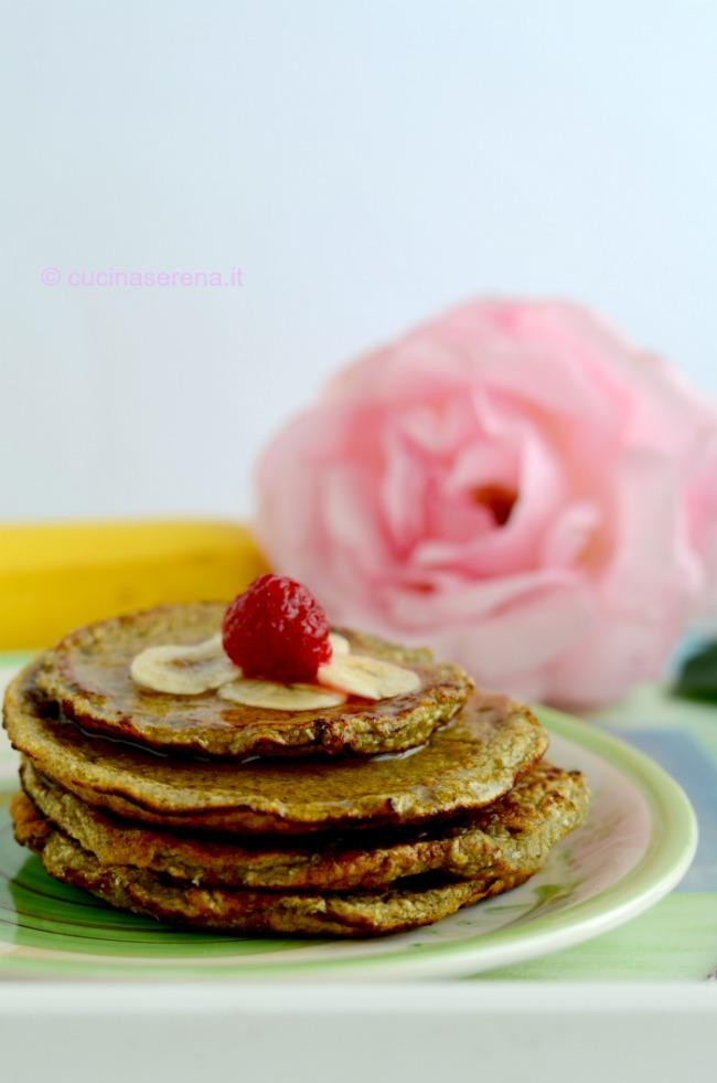 pancake vegan alla banana e cocco