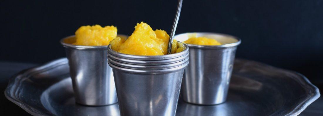 sorbetto facile al mango