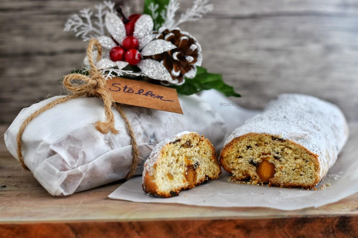Stollen dolce di Natale tedesco