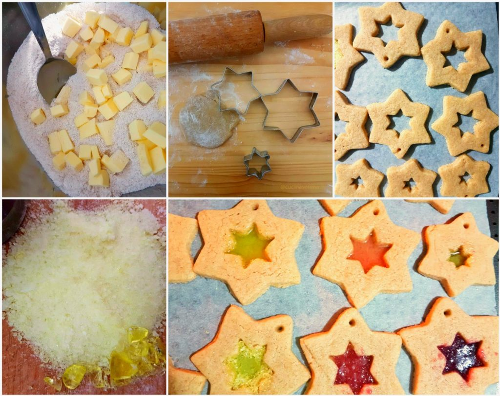 how to make glass dust cookies