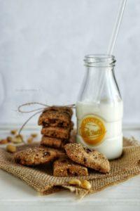 biscotti arachidi e cioccolato