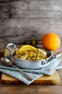 Pollocon arancia e olive