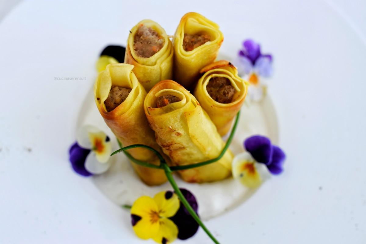 cannelloni mignon con fonduta cacio e pepe