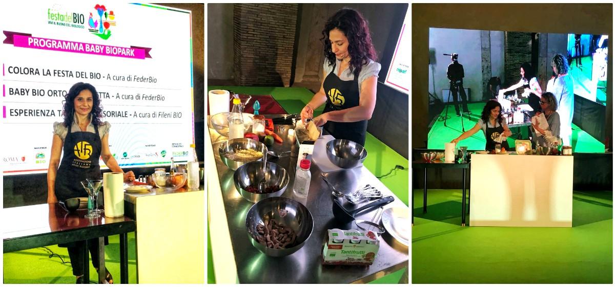Show cooking Festa del Bio Roma food blogger Serena Brigheli