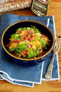 cous cous con verdure e salumi