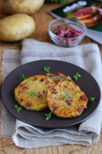 Roesti di patate e salame