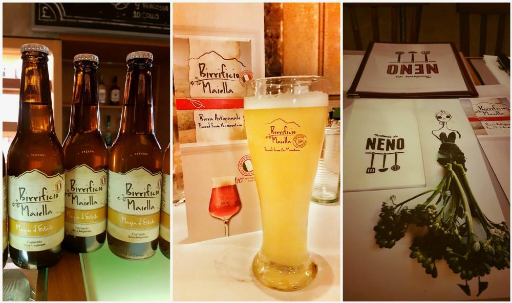 L'oro nel piatto -menu con birre del Birrificio Maiella