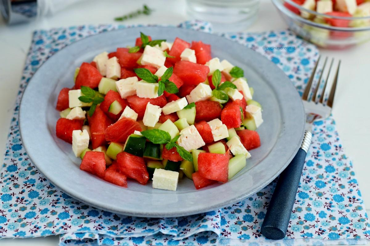 ricetta insalata anguria e feta