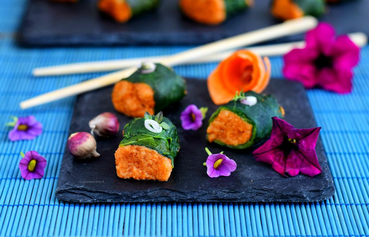 Pappa sushi italiano con cipolla egiziana