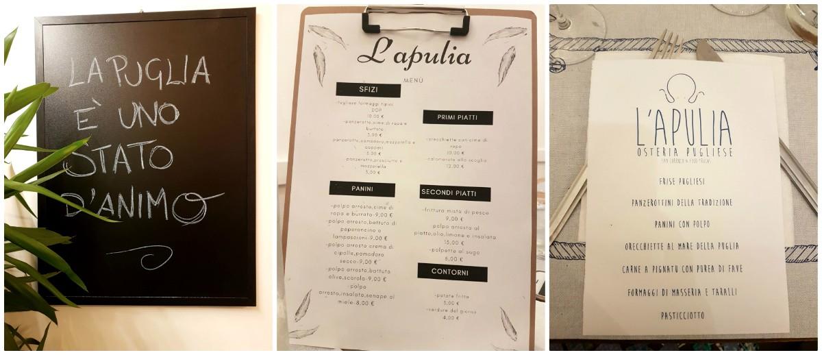 Piatti dello street food Apulia