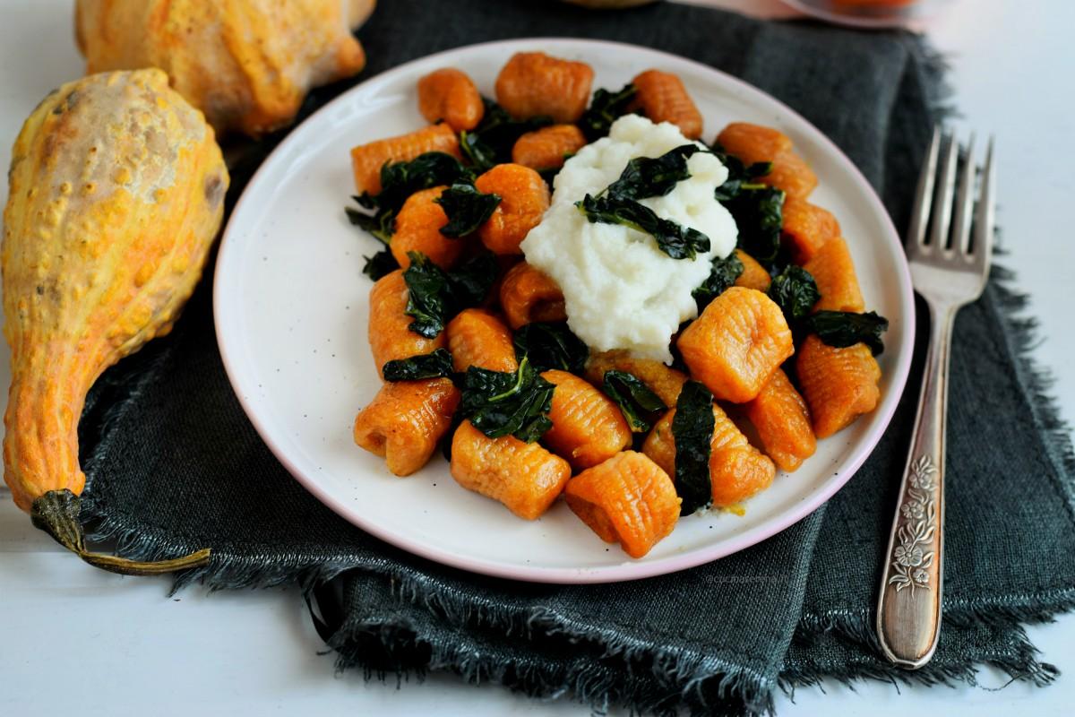 Gnocchi di zucca e patate vegan