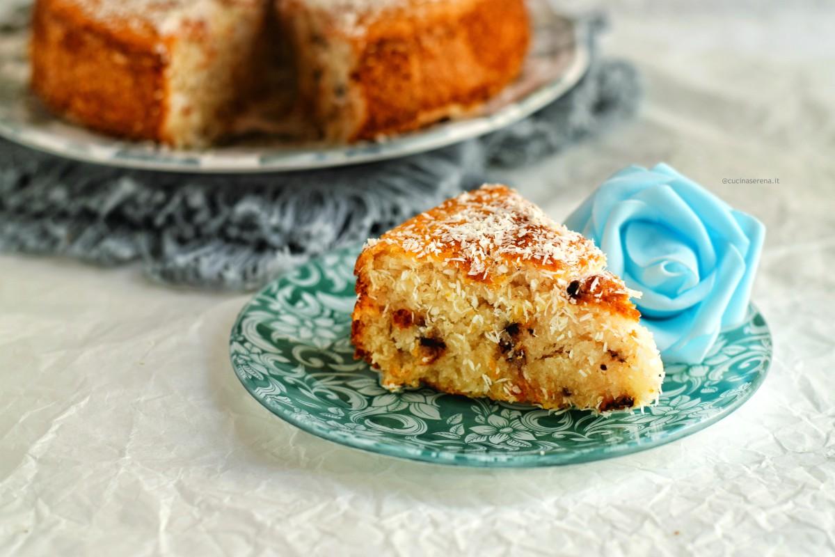 torta zero versione white con cocco