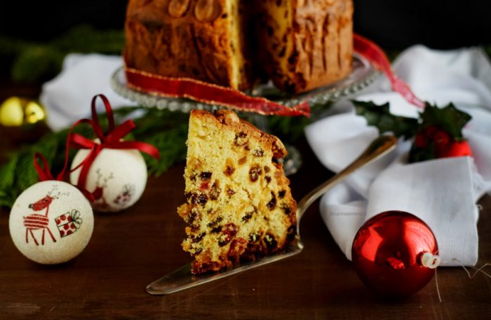 Dundee cake food photography
