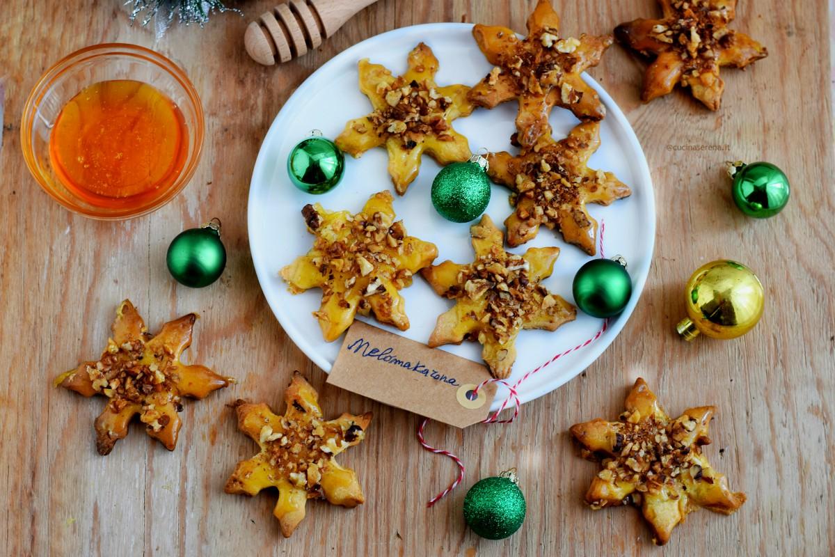 biscotti tipici di natale grechi malomakaroma glassati al miele con noci senza uovo, con succo e scorza di arancia