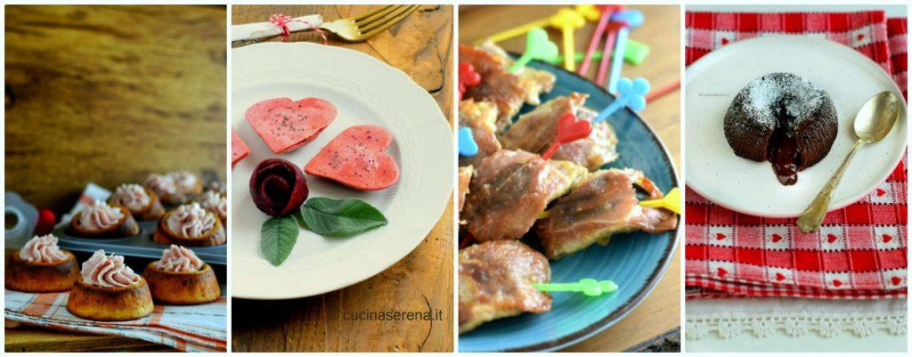 ricette per San Valentino - menù completo per San Valentino dall'antipasto al dolce