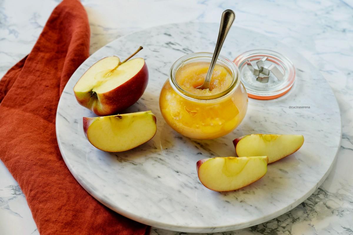 Burro di mele rietta dolcificato con sciroppo di agavave ricetta light