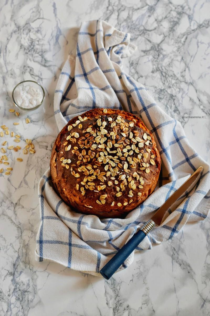 Brown soda bread pane senza lievito con il bicarbonato