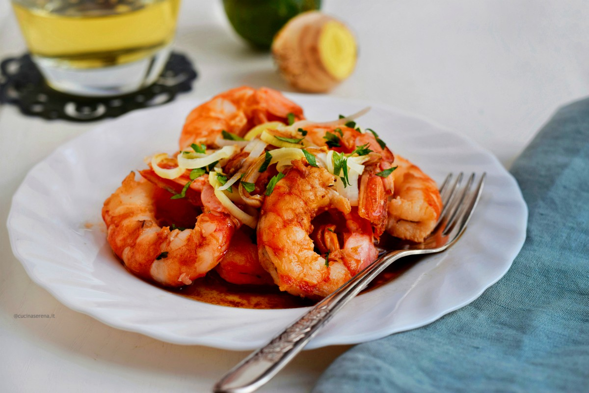 Ginger and lime crayfish