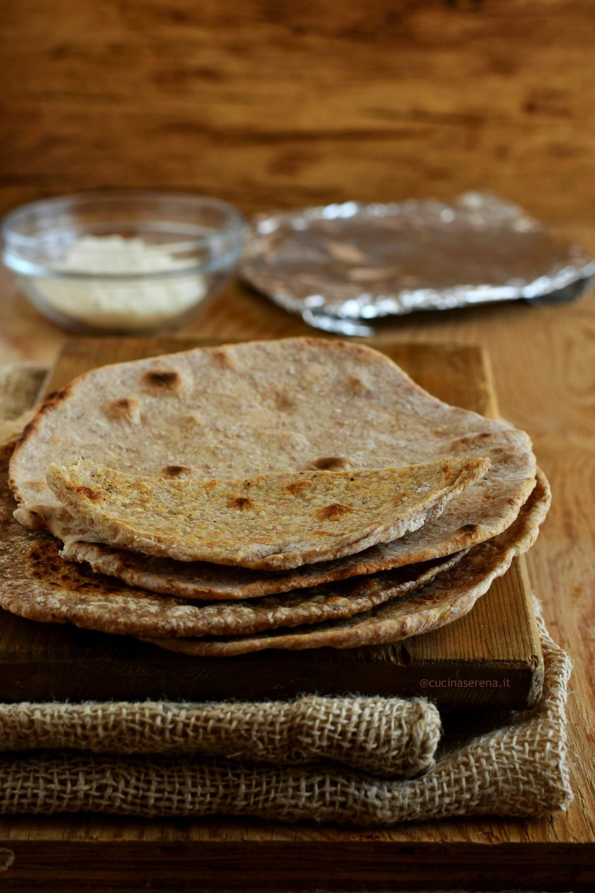 Chapati pane indiano senza lievito