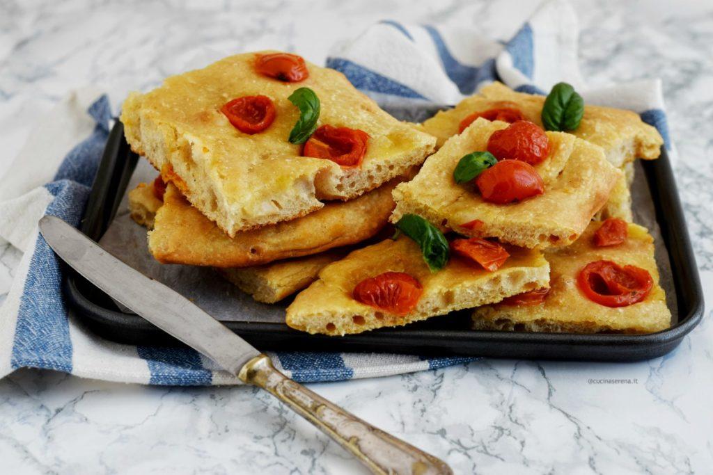 Focaccia senza impast di Jim Lahey, no knead flat bread recipe