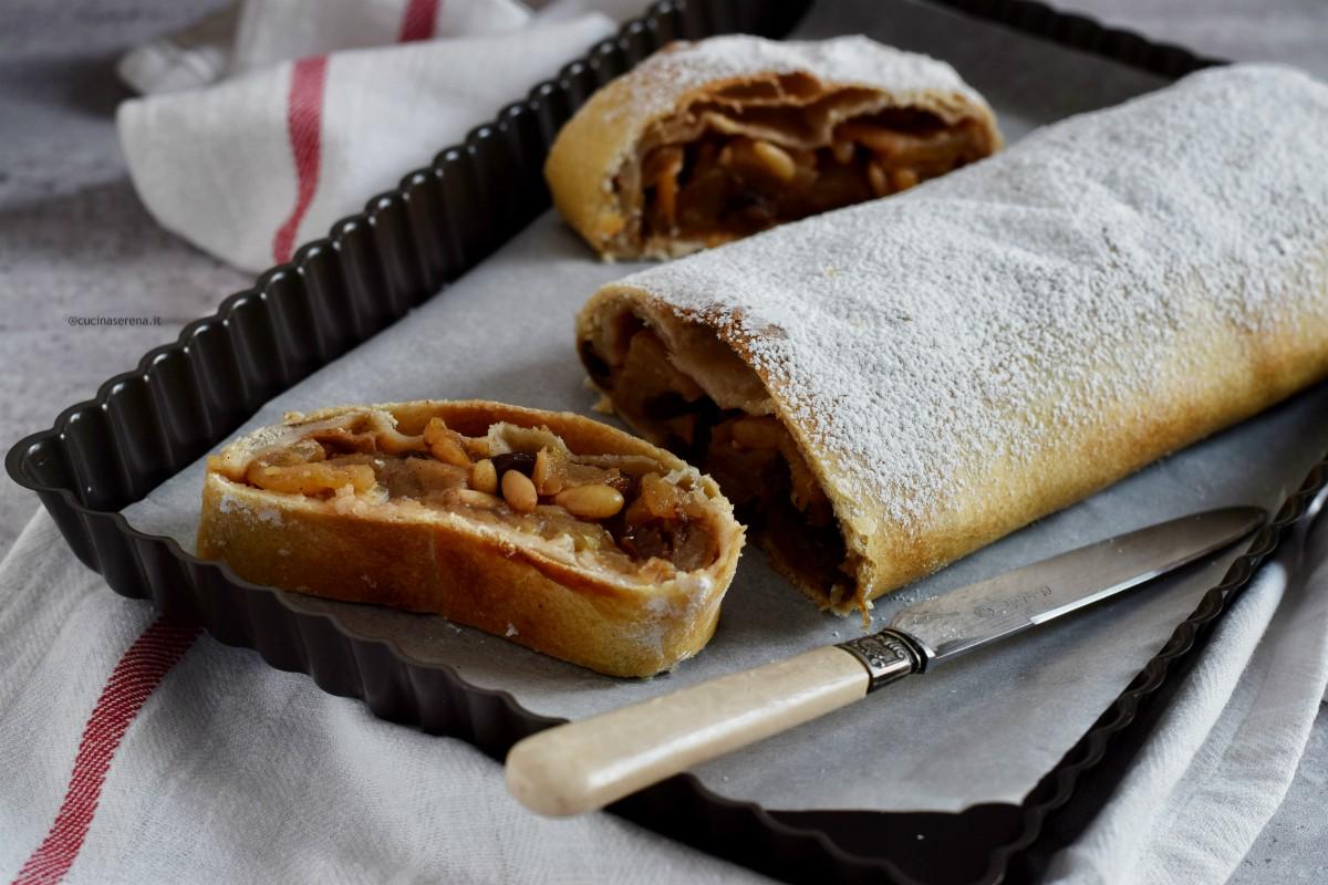 Strudel di mele ricetta di Iginio Massari con pasta matta