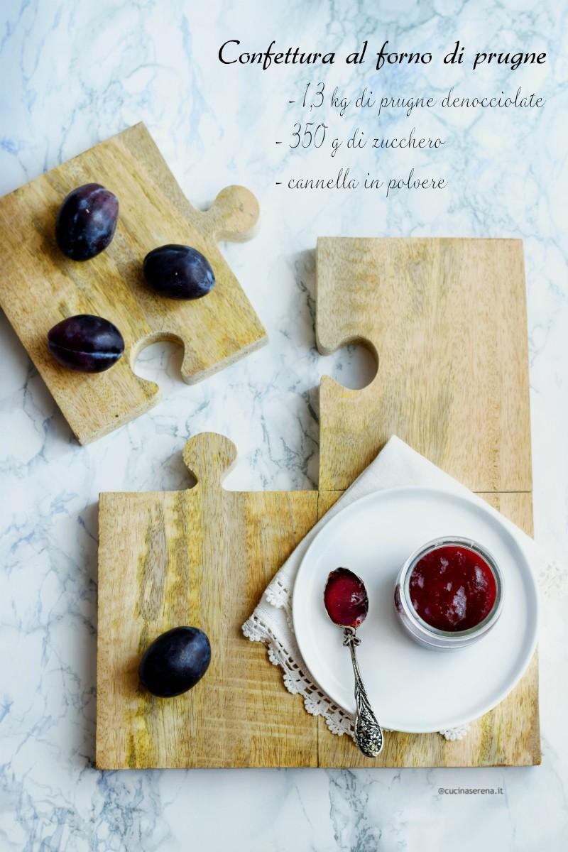 Confettura di prugne al forno ricetta - oven baked plum jam