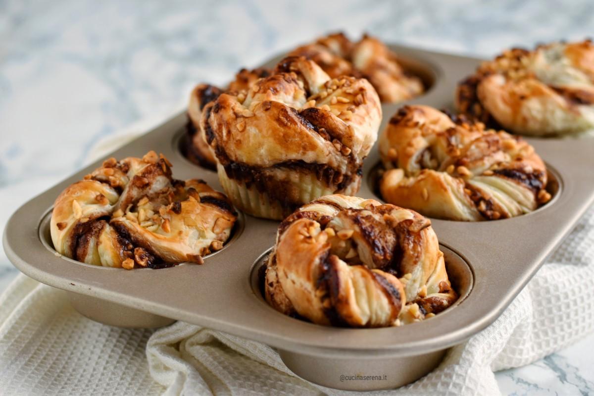 Muffin di sfoglia alla nutella