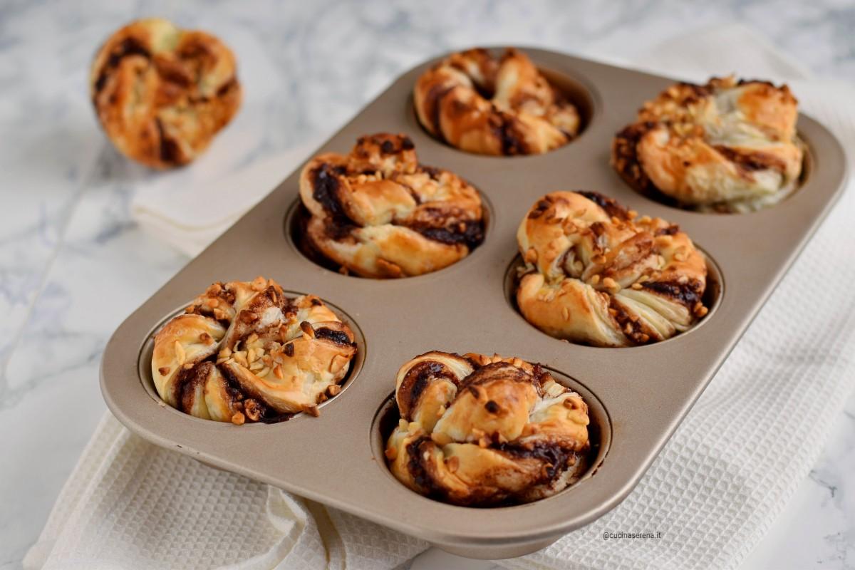 Sfoglia muffin alla crema di nocciole