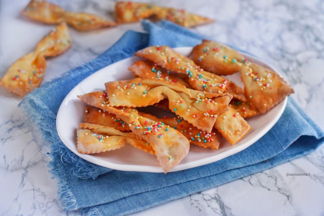 Frappe al forno con codette arcobaleno - ricetta light