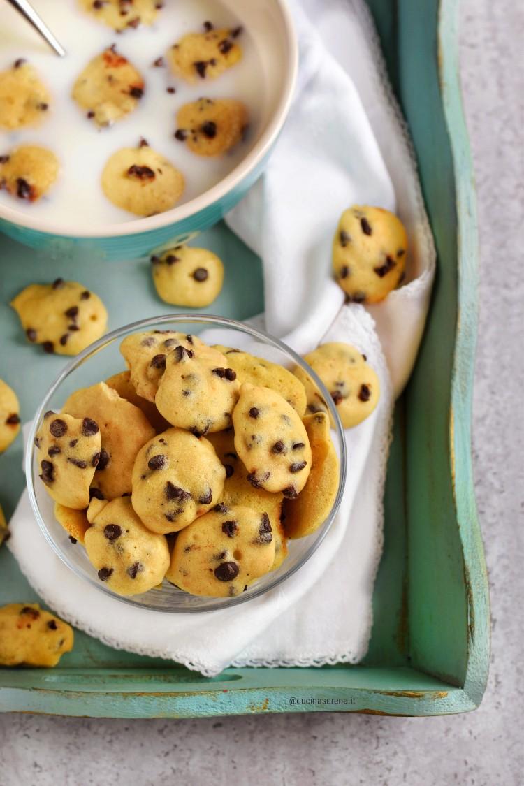 Mini chocolate cookies cereal al microonde
