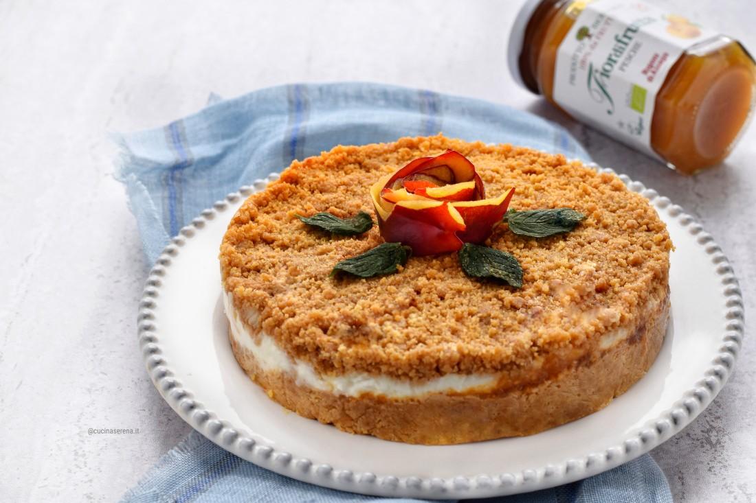torta fredda con ricotta e oesche senza cottura. ricetta facile