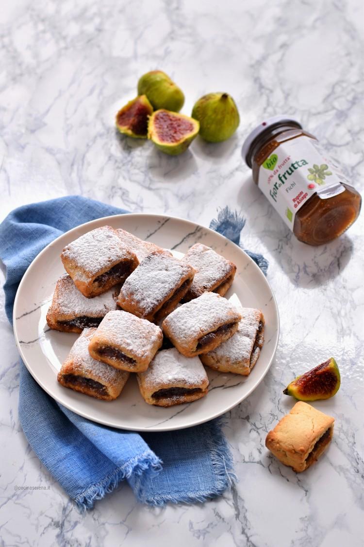 biscotti di frolla con i fichi ricetta furba con confettura Rigoni di Asiago